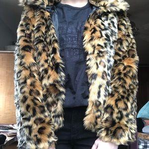 Jackets & Blazers - Faux Fur Cheetah Print Coat